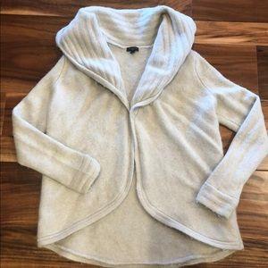 TALBOTS merino wool open cardigan cream sweater